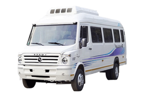 12 Seater Luxury 1×1 Tempo Traveller with Sofa Seat and Bed