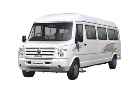 9 Seater Luxury 1×1 Tempo Traveller with Sofa Seat and Bad